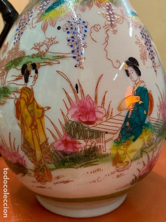 Antigüedades: Antiguo juego de te o cafe en porcelana Satsuma de Japon, cascara de huevo. - Foto 9 - 182226467