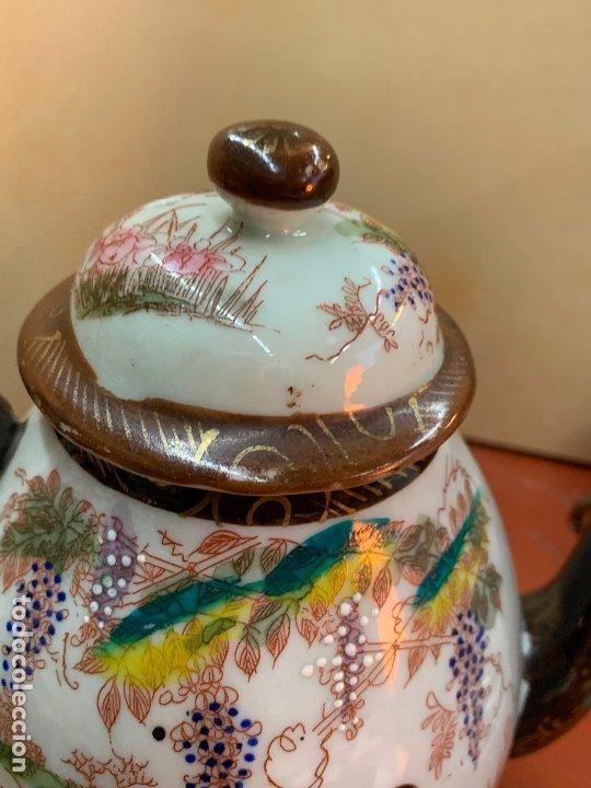 Antigüedades: Antiguo juego de te o cafe en porcelana Satsuma de Japon, cascara de huevo. - Foto 16 - 182226467