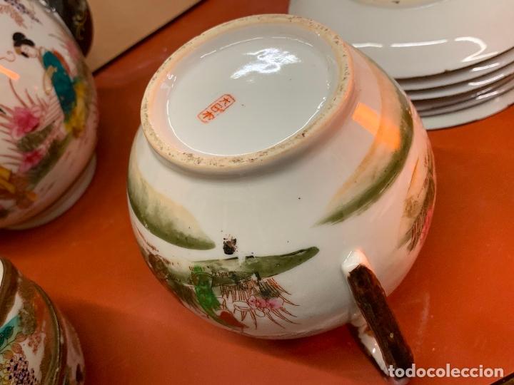 Antigüedades: Antiguo juego de te o cafe en porcelana Satsuma de Japon, cascara de huevo. - Foto 17 - 182226467