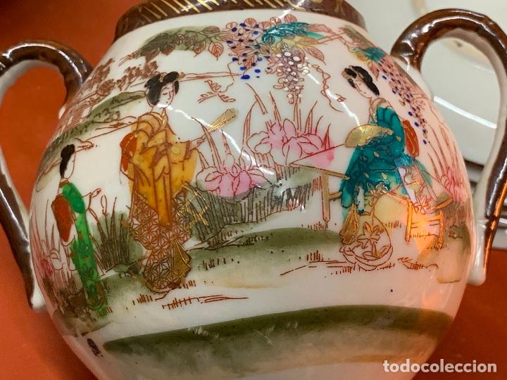 Antigüedades: Antiguo juego de te o cafe en porcelana Satsuma de Japon, cascara de huevo. - Foto 18 - 182226467