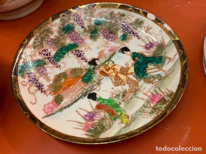 Antigüedades: Antiguo juego de te o cafe en porcelana Satsuma de Japon, cascara de huevo. - Foto 23 - 182226467