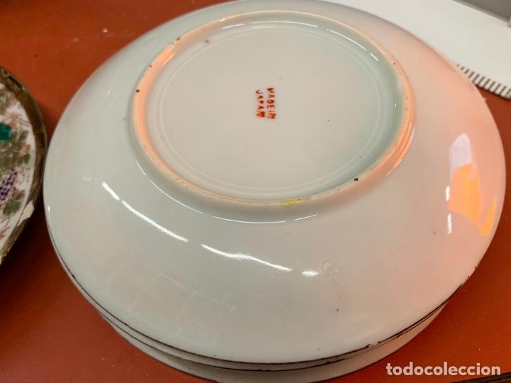 Antigüedades: Antiguo juego de te o cafe en porcelana Satsuma de Japon, cascara de huevo. - Foto 24 - 182226467