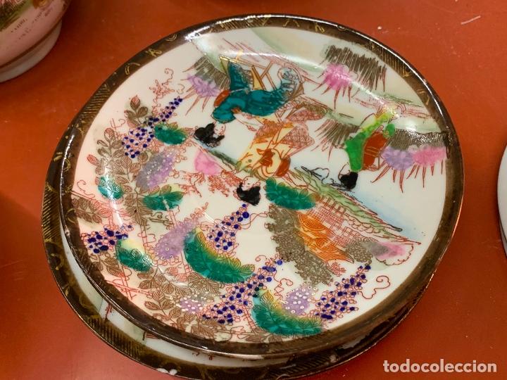 Antigüedades: Antiguo juego de te o cafe en porcelana Satsuma de Japon, cascara de huevo. - Foto 26 - 182226467