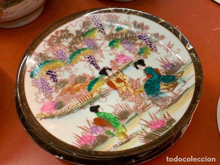 Antigüedades: Antiguo juego de te o cafe en porcelana Satsuma de Japon, cascara de huevo. - Foto 27 - 182226467