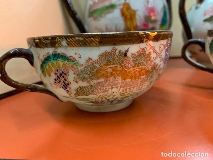 Antigüedades: Antiguo juego de te o cafe en porcelana Satsuma de Japon, cascara de huevo. - Foto 35 - 182226467