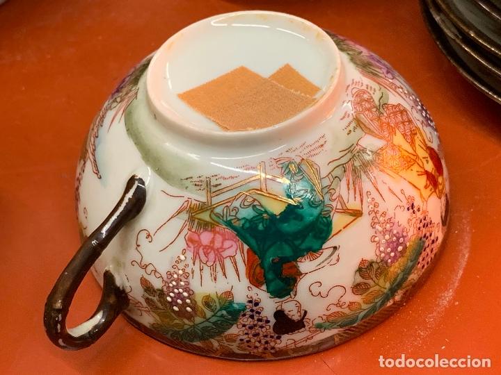 Antigüedades: Antiguo juego de te o cafe en porcelana Satsuma de Japon, cascara de huevo. - Foto 37 - 182226467