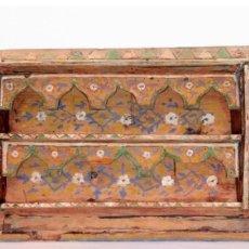 Antigüedades: EXCEPCIONAL ALACENA DE ARTESONADO ARABESCO, HECHA Y PINTADA A MANO S.XVIII-XIX PIEZA EXTRAORDINARIA. Lote 182237452