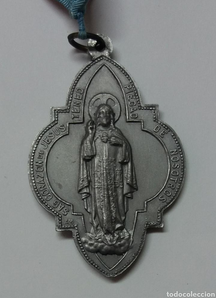 Antigüedades: MEDALLA ARCHICOFRADIA MARIA AUXILIADORA Y SAGRADO CORAZON DE JESUS - Foto 2 - 182253656
