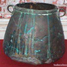 Antigüedades: ANTIGUA OLLA DE COBRE SIGLO XIX. Lote 182261123