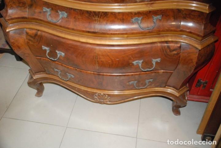 Antigüedades: MUY BONITA CÓMODA DE MADERA DE RAÍZ - Foto 11 - 151086798