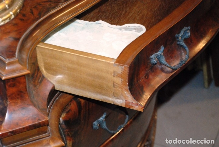 Antigüedades: MUY BONITA CÓMODA DE MADERA DE RAÍZ - Foto 15 - 151086798