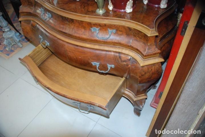 Antigüedades: MUY BONITA CÓMODA DE MADERA DE RAÍZ - Foto 18 - 151086798