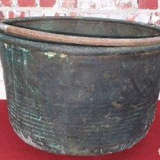 Antigüedades: ANTIGUA OLLA DE COBRE SIGLO XIX. Lote 182261283