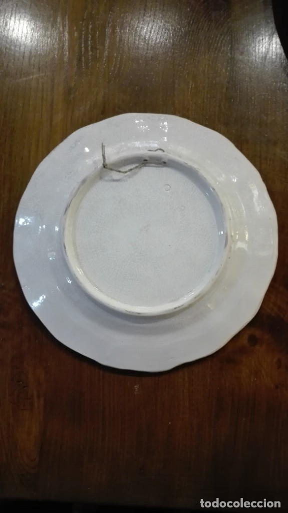 Antigüedades: Plato de cerámica de Talavera - Foto 2 - 182265490