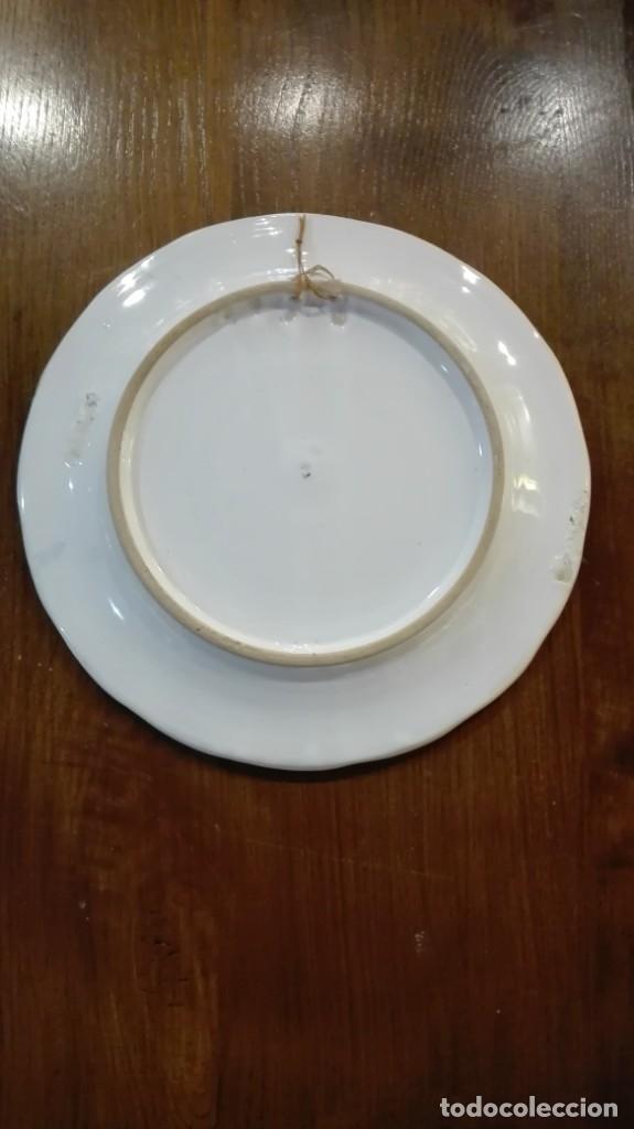 Antigüedades: Plato de cerámica de Talavera - Foto 2 - 182265683