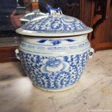 Antigüedades: ANTIGUO TIBOR JARRON CHINO SIGLO XIX EN PORCELANA EXCELENTE CALIDAD. Lote 182267306