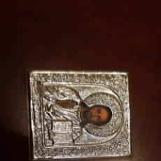 Antigüedades: ICONO RELIGIOSO PLATA DE LEY. Lote 182275965