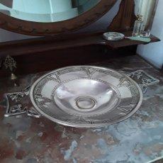 Antigüedades: PRESENTADOR DE MESA ALPACA. Lote 182276487