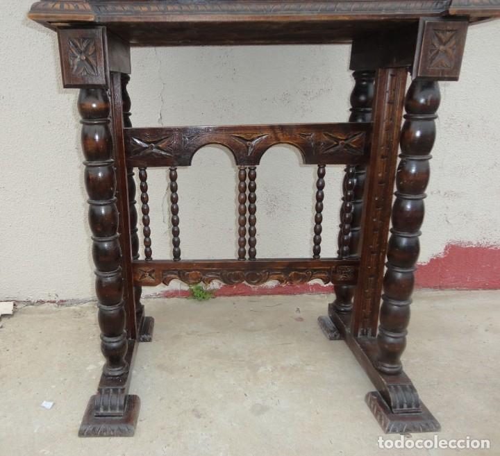 Antigüedades: Bargueño estilo renacimiento en madera tallada - Foto 3 - 182277471