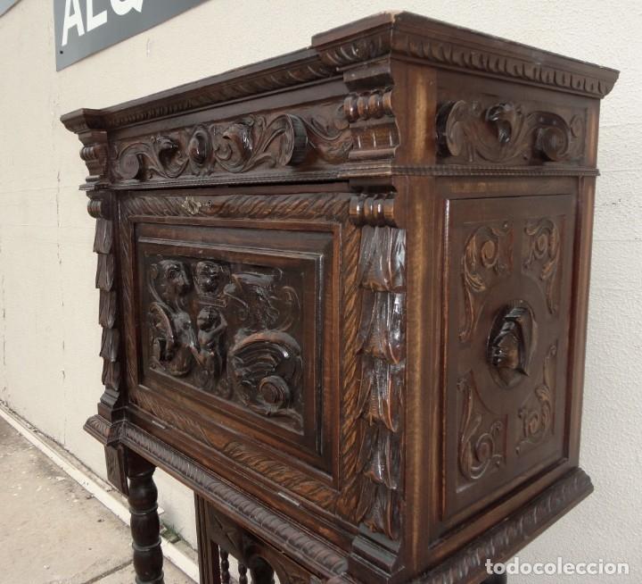 Antigüedades: Bargueño estilo renacimiento en madera tallada - Foto 6 - 182277471