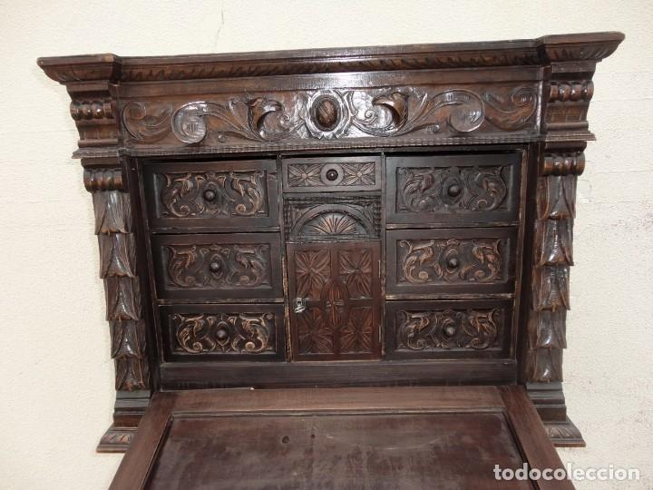 Antigüedades: Bargueño estilo renacimiento en madera tallada - Foto 7 - 182277471