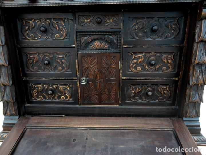 Antigüedades: Bargueño estilo renacimiento en madera tallada - Foto 8 - 182277471