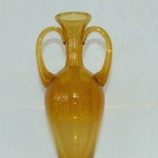 Antigüedades: JARRÓN DE CRISTAL MALLORQUÍN - AÑOS 50 - 34 CM.. Lote 182280328
