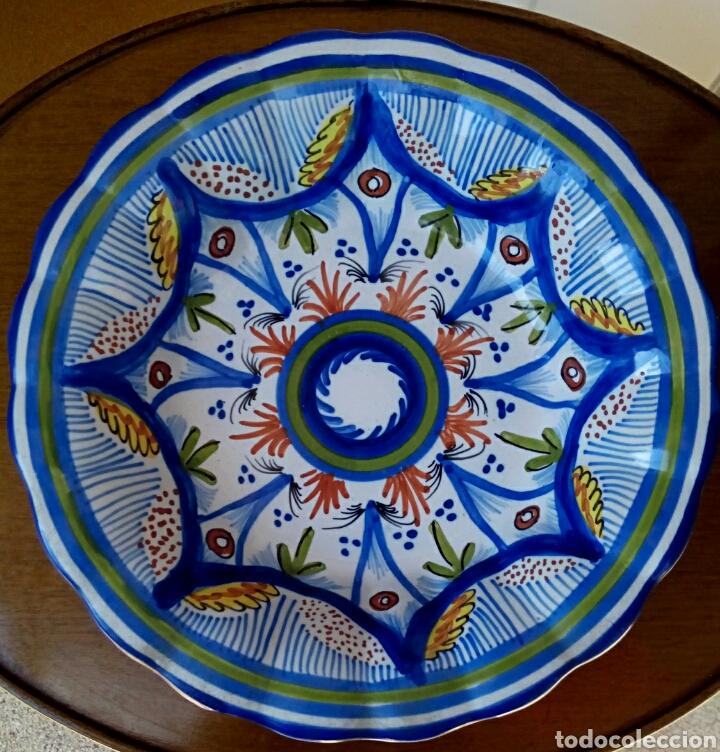 PLATO DE CERAMICA RIBESALBES (Antigüedades - Porcelanas y Cerámicas - Ribesalbes)