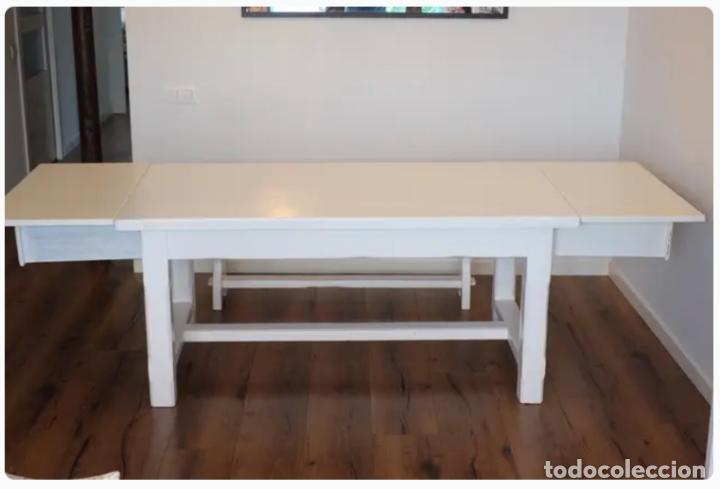 Antigüedades: Mesa de comedor y banco de madera - Foto 3 - 182284595
