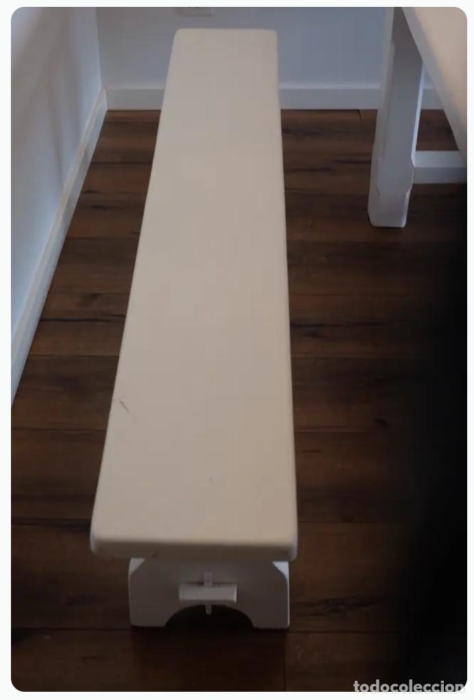 Antigüedades: Mesa de comedor y banco de madera - Foto 4 - 182284595