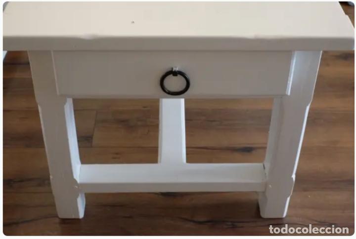 Antigüedades: Mesa de comedor y banco de madera - Foto 5 - 182284595