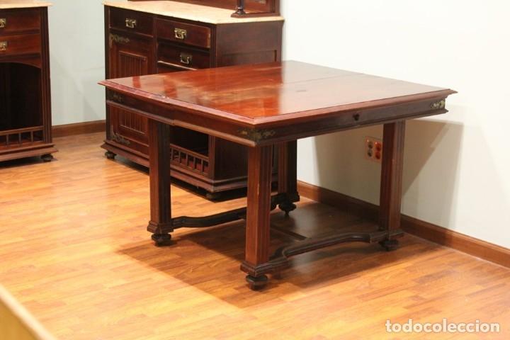 Antigüedades: Comedor inglés, años 20, caoba,dos aparadores, mesa y ocho sillas. - Foto 9 - 182293800