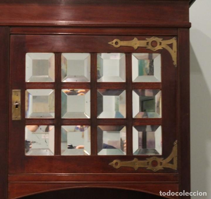 Antigüedades: Comedor inglés, años 20, caoba,dos aparadores, mesa y ocho sillas. - Foto 12 - 182293800
