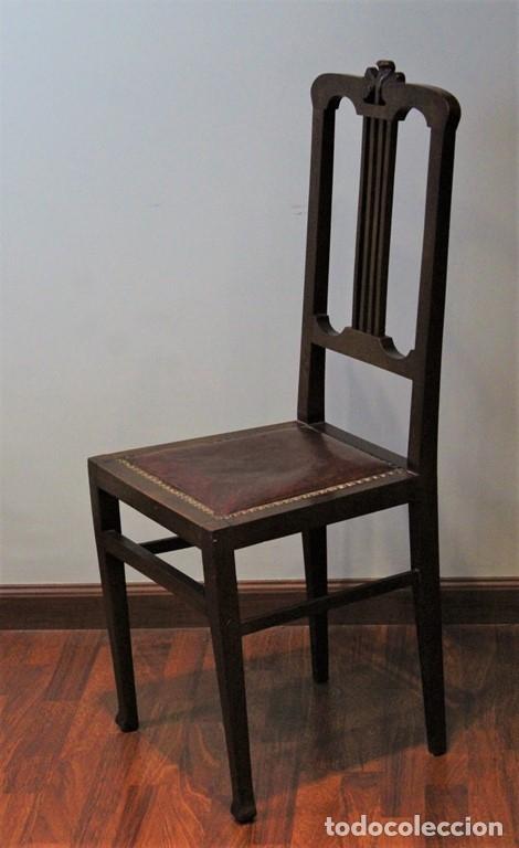 Antigüedades: Comedor inglés, años 20, caoba,dos aparadores, mesa y ocho sillas. - Foto 16 - 182293800
