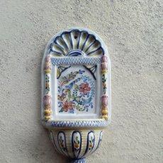 Antigüedades: BENDITERA PORCELANA PORTUGUESA. Lote 182301986