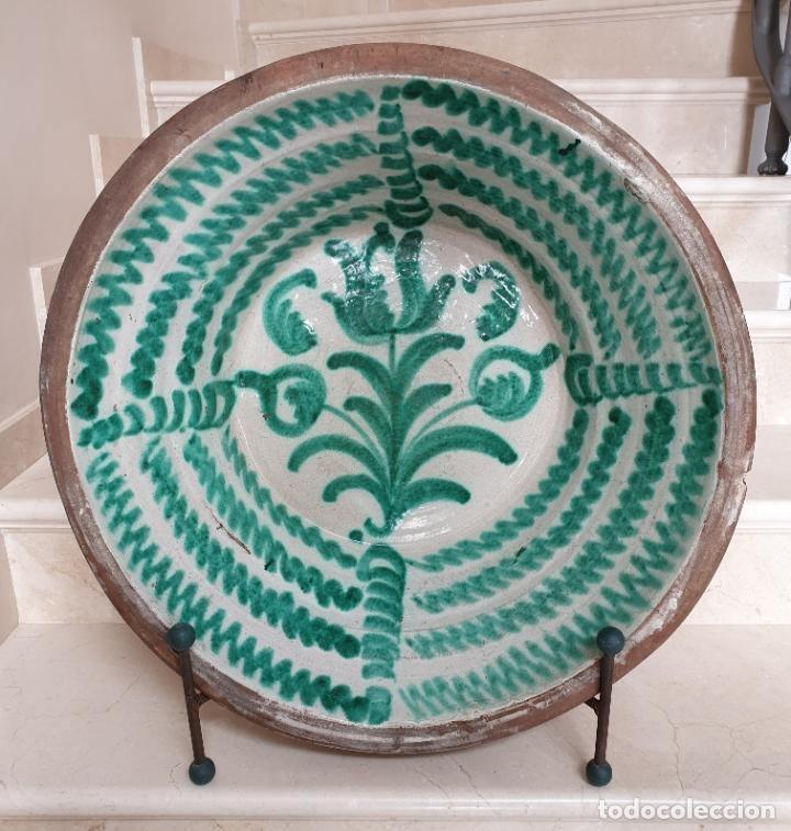 EXCEPCIONAL LEBRILLO ANTIGUO EN CERAMICA DE FAJALAUZA,(GRANADA),S. XIX (Antigüedades - Porcelanas y Cerámicas - Fajalauza)