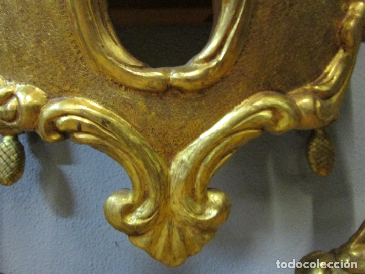 Antigüedades: Preciosa Consola Barroca - Carlos III - Madera Tallada y Dorada - S. XVIII - Foto 15 - 182308367
