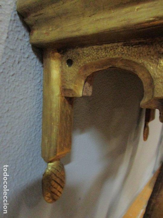 Antigüedades: Preciosa Consola Barroca - Carlos III - Madera Tallada y Dorada - S. XVIII - Foto 21 - 182308367