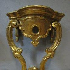 Antigüedades: PRECIOSA CONSOLA BARROCA - CARLOS III - MADERA TALLADA Y DORADA - S. XVIII. Lote 182308367