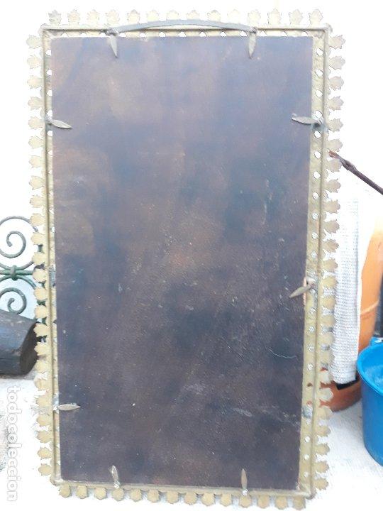 Antigüedades: Antiguo espejo de bronce para colgar en pared - Foto 6 - 182310803