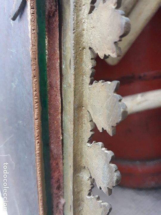 Antigüedades: Antiguo espejo de bronce para colgar en pared - Foto 7 - 182310803