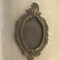 Antigüedades: ANTIGUO ESPEJO DE TOCADOR DE BRONCE - LATÓN. Lote 182316581