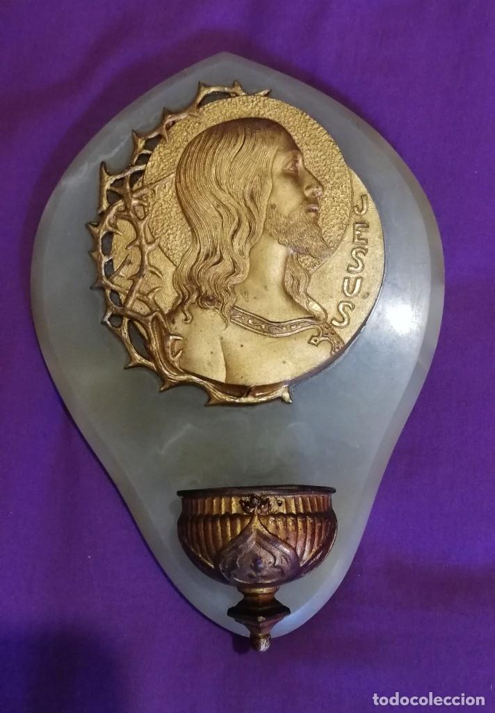 Antigüedades: Benditera modernista de bronce y Onice - Foto 4 - 182318577