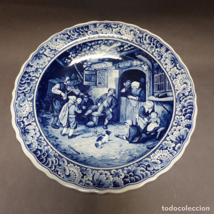 PLATO DE PARED DE CERÁMICA DE DELFT. HOLANDA 1960 - 1970 (Antigüedades - Porcelana y Cerámica - Holandesa - Delft)