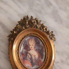 Antigüedades: MARCO DE BRONCE ANTIGUO. Lote 182334190