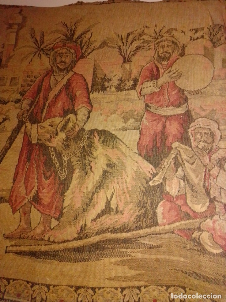 Antigüedades: Antiguo y grande tapiz árabe - Foto 6 - 182351948