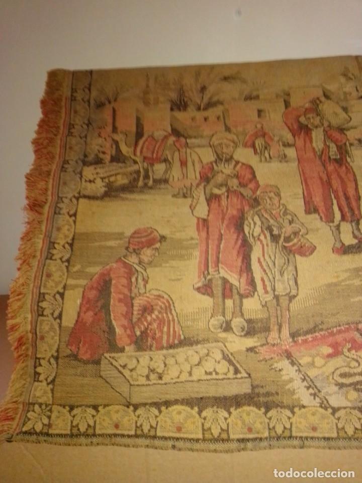 Antigüedades: Antiguo y grande tapiz árabe - Foto 7 - 182351948
