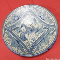 Oggetti Antichi: ANTIGUO PLATO CERAMICA DE TERUEL ARTESANO DOMINGO PUNTER. Lote 182362685