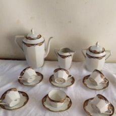 Antigüedades: ANTIGUO JUEGO DE CAFÉ PORCELANA LIMOGES ALTA CALIDAD. Lote 182365957