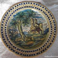 Antigüedades: ANTIGUO PLATO DE CERÁMICA DE TALAVERA. Lote 182366133